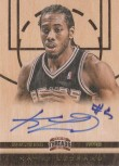Kawhi Leonard Threads Wood Auto