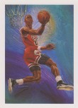 Michael Jordan Hoops Sketch Card