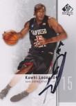 Kawhi Leonard SP Authentic Auto