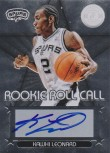 Kawhi Leonard Totally Certified Silver Rookie Role Call Auto